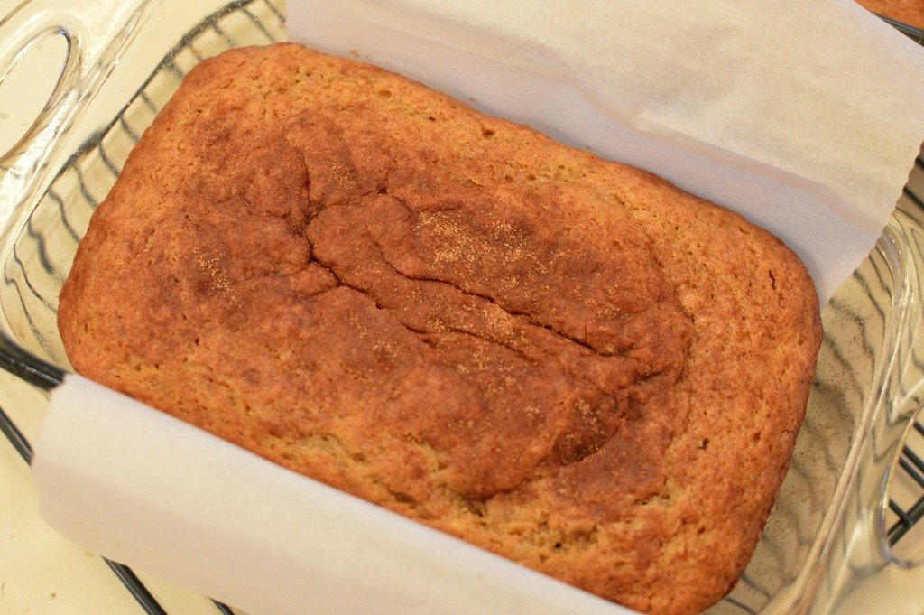 Creamy Banana Bread, Just out of oven