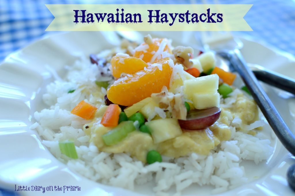 Kids love Hawaiian Haystacks because they get to choose their own toppings.  I love these Hawaiian Haystacks because they have the perfect amount of curry in them.  Yum!!