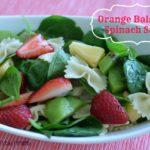 Orange Balsamic Spinach Salad