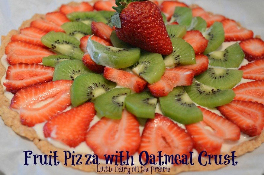 Stawberry Fruit Pizza, Oatmeal Pizza Crust