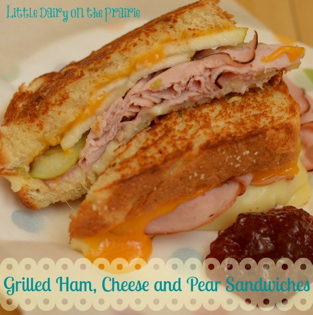 Grilled Ham, Cheese, and Pear Sandwhiches with Jam