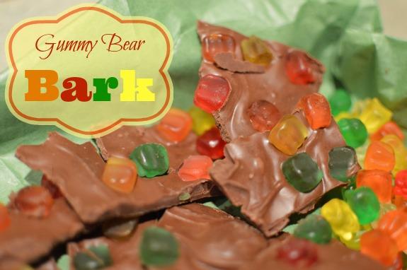 Gummy Bear Bark, No Bake Dessert, Easy Kids Candy  Recipe, Gummy Bear Candy