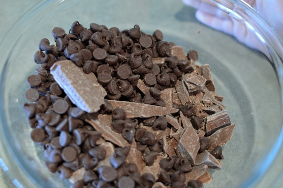 Milk and Semi-Sweet Chocolate Bark