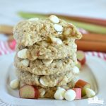 Rhubarb Chocolate Chip Cookies - featured image