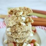 Rhubarb Oatmeal Cookies with Chocolate Chips
