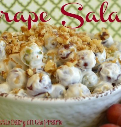 Grape Salad with Greek Yogurt, Whipped Cream and Sour Cream