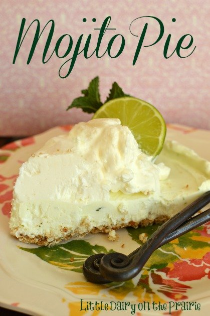 Mojito Pie, Frozen Pie, Lime and Mint