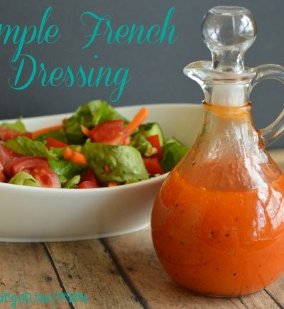 Simple French Salad Dressing Recipe