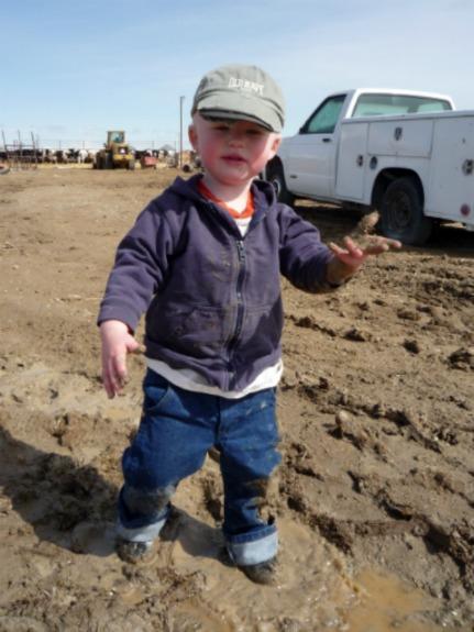 Muddy man