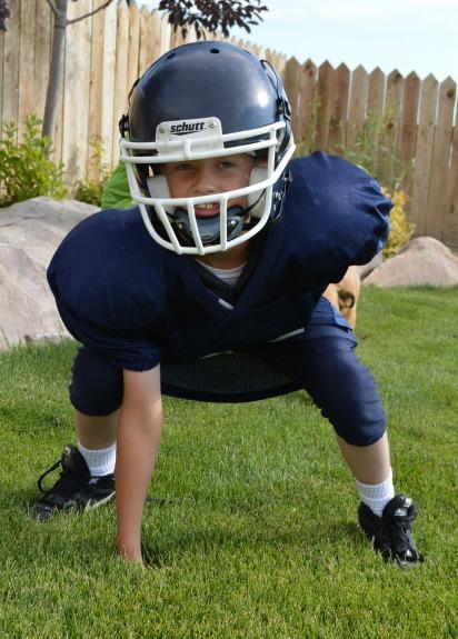 Skinny Little Football Player