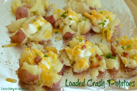 Bacon, butter and cheese makes these potatoes addicting!