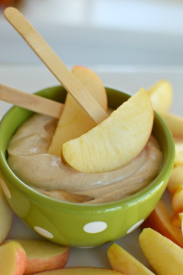 Peanut butter apple dip is highly addictive! Would be delish with bananas too!