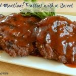 Grilled Meat Loaf Patties with a Sweet  Sauce