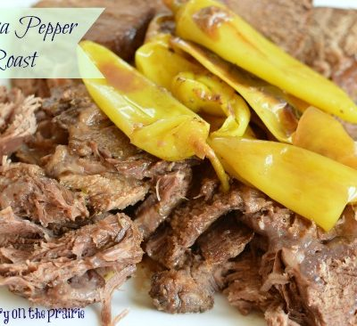 Slow cooker roast! Just right flavors from the banana peppers!