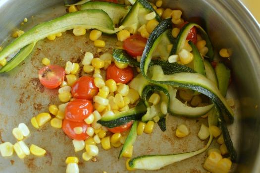 Summer veggies in salad!