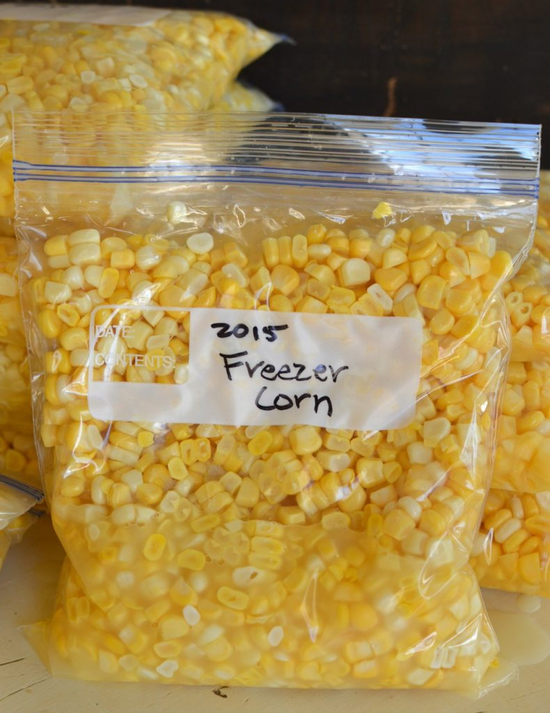 A seal able plasticc bag of with corn kernels