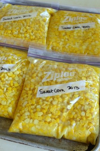 Sweet and buttery freezer corn! Plus a trick for fitting more corn in a small space in the freezer!