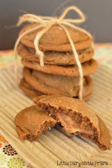 these soft ginger snaps have the perfect blend of spices the caramel ...
