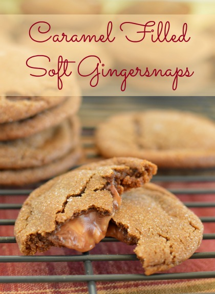 A warm blend of spices makes these gingersnaps so comforting! Adding caramel only makes them better! www.littledairyontheprairie.com