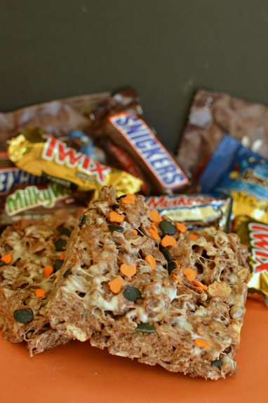 Halloween Candy Crispy Treats