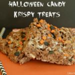 Halloween Candy Krispy Treats