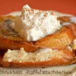 Baked Pumpkin French Toast (Stuffed with Cream Cheese)