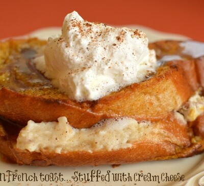 Make french toast. Let sit overnight. Bake in the morning. So easy! One of my favorite fall breakfasts!