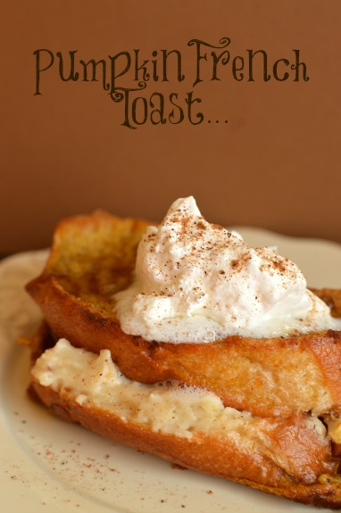 Baked Pumpkin French Toast (Stuffed with Cream Cheese ...