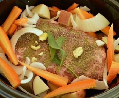 Sage rubbed pork pot roast! Amazing flavors!