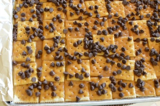 Soda Cracker Pie With Chocolate Chips