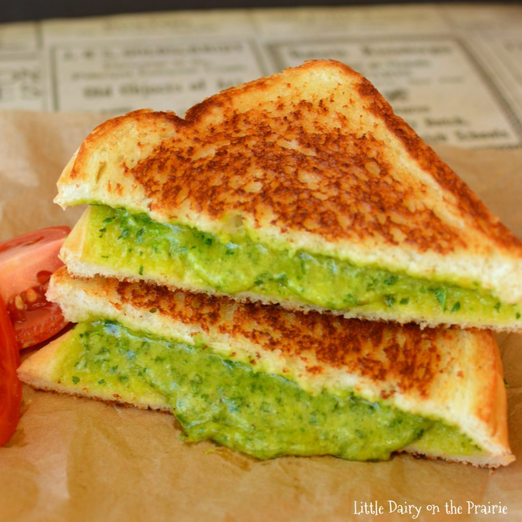 Spinach Grilled Cheese Sandwich!