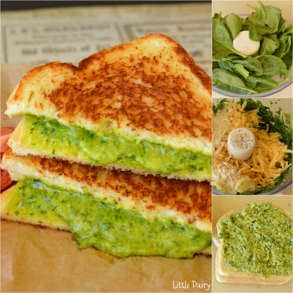 Spinach Grilled Cheese Sandwich! The yummiest way to for kids to eat their spinach!