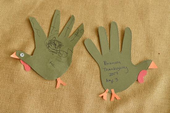 A thanksgiving kids keepsake!