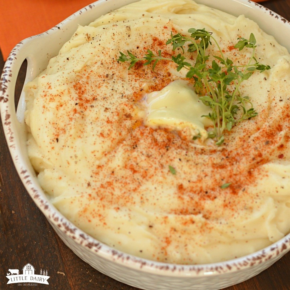 Three Cheese Mashed Potatoes - Little Dairy On the Prairie