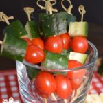 Veggie Skewers & Smoky Chipotle Dip