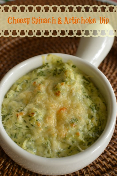Crispy broiled Parmesan cheese topping with a cheesy and creamy dip!