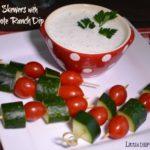 Veggie Skewers & Smoky Chipotle Dip