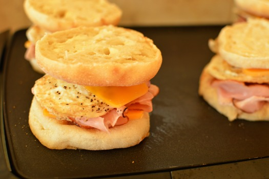 Grilled breakfast sandwiches!