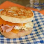 Grilled Cheese English Muffin Breakfast Sandwiches