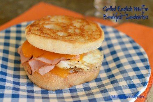 Grilled cheese is the ultimate in comfort food. Add an egg and ham sandwiched between an English muffing and you have the ultimate breakfast food!