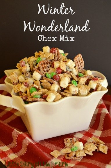 Irresistible and festive Chex Mix! Makes a great gift!