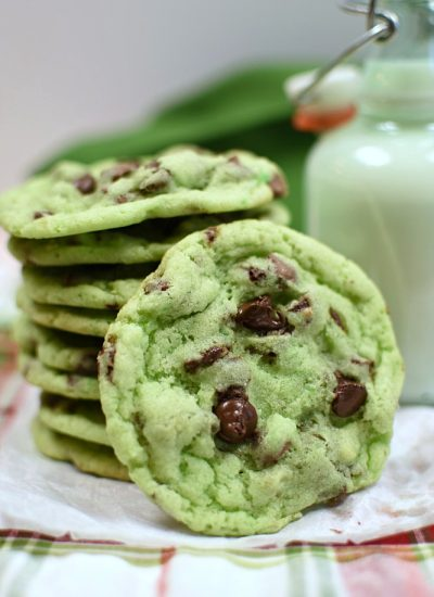 Mint Chip Sugar Cookie on a plate