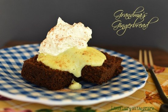 My grandma served this moist cake like gingerbread with a zesty lemon sauce and freshly whipped cream! Yum!!