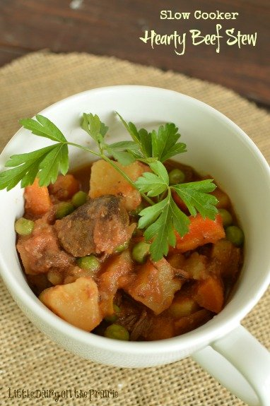 Slow Cooker Beef Stew! This stew is very hearty and full of flavor!