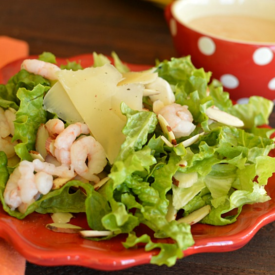 Steak House Shrimp Salad with Creamy Dressing!!!