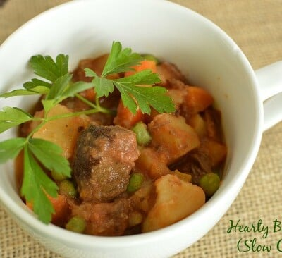 Hearty Beef  Stew (Slow Cooker)