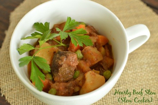 The most flavorful beef stew I have ever eaten! All it's missing is a slice of hot bread!