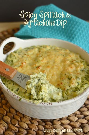 Three Cheese Spinach and Artichoke Dip!