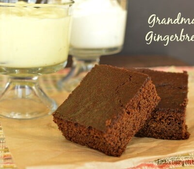 Warm gingerbread with lemon sauce and freshly whipped cream! A taste of heaven! www.littledairyontheprairie