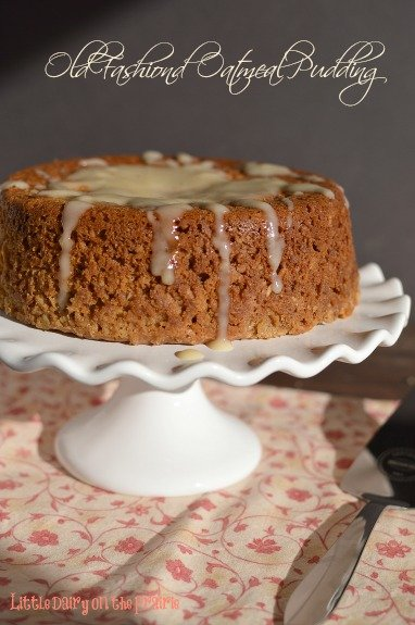 A super moist steamed pudding. Its the creamy nutmeg sauce that I serve with it that is irresistible!  Little Dairy on the Prairie